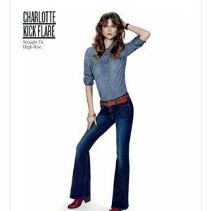 Lucky Brabd Charlotte Kick Flare Leg Jeans Size 0